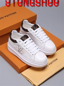 Louis Vuitton LV gucci moda casual formal de cuero de desgaste caminar zapatilla de deporte zapatos corrientes de los deportes zapatillas de deporte con la caja A52