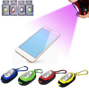 270nm LED Disinfezione lampada UVC portatile LED sterilizzatore Luce Mini Sanitizer portatile Keychain Light viaggio bacchetta germicida per Mask Phone
