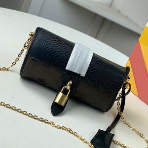 Mulheres Monogram Purse Bag Crossbody Bag Cilindro sacos de moda Hardware Bloqueio carta cheia de Ombro Cadeia Carteiras de alta qualidade Hot Sale