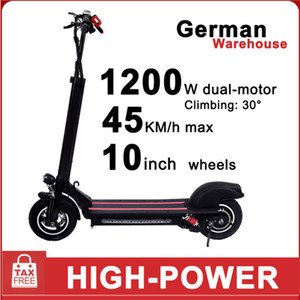 GYL002 Double drive 10inch 48V 1200W Electric Scooter Top Speed 45km Mileage Range Quick Folding Three Riding Mode Fast delivery
