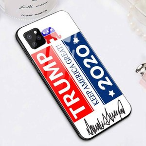 2020 Election Trump Phone case cover Anti-fall Tempered Glass Protective Sleeve for iPhone 6 6s 6 6s plus 11 XS Max Pro Party Favor LJJA4106