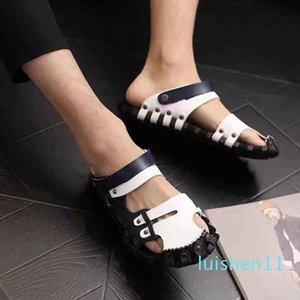 Hommes Femmes Sandales Chaussures Diapo été Mode plat large Slippery Sandales Slipper Flip Flop shoe10 P12 L11