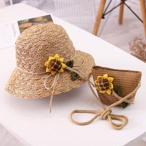 가방 키트 아기 여름 자외선 차단제 해변 모자와 H850 한국 스타일의 기계 일 H850 한국 스타일 플라워 기계 캡 해바라기 모자