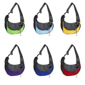 Petto Dog Carriers Sling Bag Zaino Pet obliqua della biforcazione della ventilazione Zaino Outdoor reticolato portatile spalle Strap Handy 22fd C2