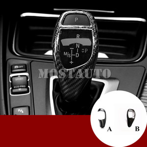For BMW 5 Series F10 F07 F11 E90 Carbon Fiber Gear Shift Knob Cover