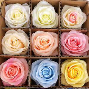 29Colors 10cm Jefes flores artificiales de Rose Flor de la decoración del banquete de boda Suministros falsificación flor decoraciones caseras HHA1450