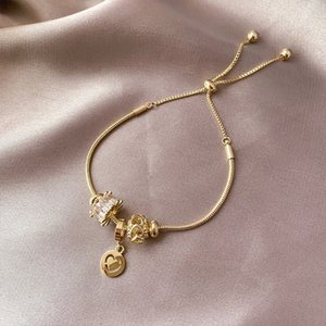 Luxus-Kristallherz-Charme-Armband-Armbänder Goldarmbänder für Frauen Schmuck Pulseira Feminina Armband Kinder Charm Armband Le i3AL #
