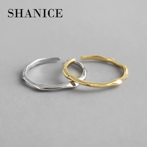 925 Sterling Silver Open Ring INS Cold & Cool Minimalist Face Finger Ring For Women Statement Adjustable Thin Ring