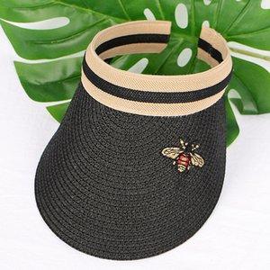 Popüler sevimli arı şapkalar moda lüks tasarımcı yazlık açık plaj çim kadın kadınlar için rahat beyzbol topu kapaklar örgülü