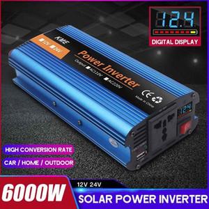 Car Power Inverter 6000W DC12 24V to AC 220V 50HZ Modified Sine Wave Inverter Voltage transformer Power Converter + Lcd Display eibV#