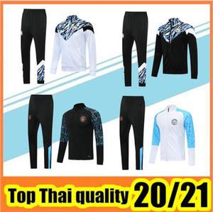 2020 2021 KUN AGUERO tuta da allenamento calcio maglie da calcio maglione 20/21 Manchester City città giacca da calcio tuta da jogging chandal futbol