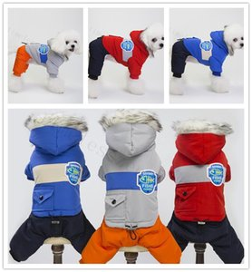 S-XXL pet dog costume winter thick dog clothes outdoor walking windbreaker high-quality cotton-padded clothes coat snow warm dogs apparel