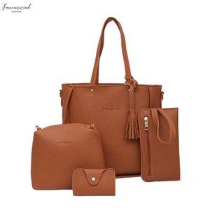 Four Set Handbag Shoulder Bags Leather Tote Crossbody Wallet Bags Four Pieces Multi Purpose Combination Package S