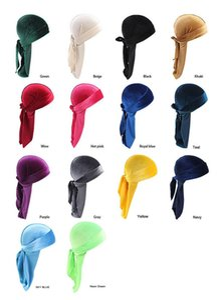 tappi dei pirati 14 stile unisex Velvet Durags Bandana Cappello Turbante parrucche Doo Durag motociclista Copricapo fascia Pirate Hat Accessori per capelli DHC170