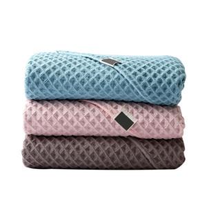 70 * 140 CM banho toalha absorvente toalha Unisex Washcloth alta absorvente de secagem rápida Grande Sólidos Soft Color e confortável # 20