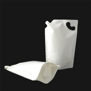 2000ML Portable Independence bags Liquid laundry Shower Gel Hand soap Water Milk juice Nozzle Bag 21cmx31.5cm LZ0879