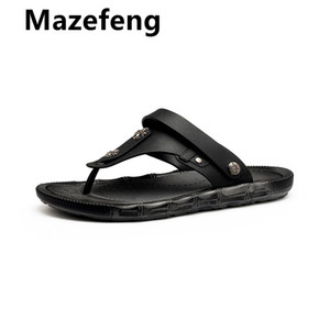 Mazefeng 2020 New Arrival Summer Men Flip Flops High Quality Beach Sandals Anti-slip Zapatos Hombre Casual Shoes Wholesale
