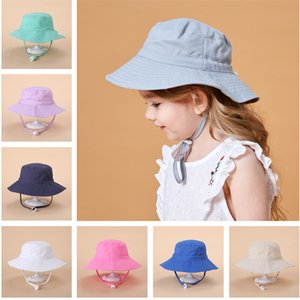 Cute Baby Bucket Hats Spring Summer Boys Girls Infant Baby UV Protection Sunhat Adjustable Sun Hat Outdoors Quick Dry Breathable Beach Hats