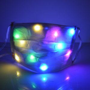 Mode Glowing Masque Designer 7 couleurs Masques LED lumineux Face Mask Rave Party de Noël Festival de mascarade LJJA5580