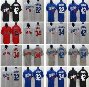 2020 hombres mujeres niños béisbol 28 JD Martínez Venta David Ortiz Fernando Valenzuela 23 Kirk Gibson Jackie Robinson 32 Sandy Koufax Jersey Men