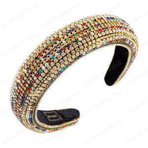 Magnífica completa diadema diamantes de imitación para mujer de lujo hecha a mano gruesa esponja del aro del pelo nupcial de la boda Celada