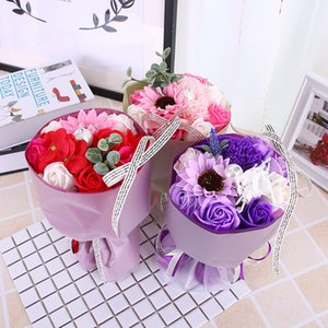 2019 New Arrival Dried Flower Bouquet Creative Valentine's Day Gift Home Wedding Decor Romantic Girlfriend Gift Flowers