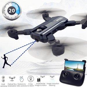 X196 F196 카메라 드론으로 카메라의 HD Dron 광학 흐름 Quadrocopter 고도 홀드 FPV 쿼드 콥터 드론의 RC 헬리콥터 대 Sg900 T190621