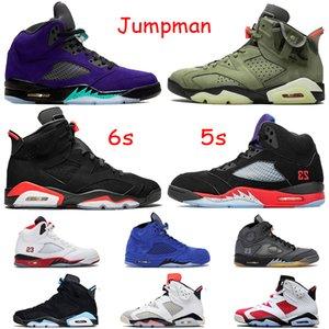 nike air jordan retro 5 AIR JUMPMAN BLACK CEMENT 3M Scarpe da basket riflettenti statiche da uomo UNC PE Mocha Red Knicks Rivals Red Mens Sneakers US 7-13