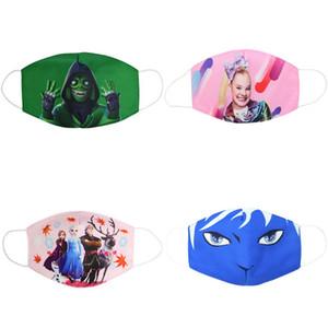 Maschere panno di fronte Bambini Maschera Cotton Bocca Maschera maschere del fumetto giovanile per bambini per il capretto Pambuk Maszk usmEn xhlove