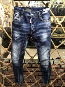 Dsquared2 DSQ2 SS20 nueva llegada de calidad superior D2 diseñador de los hombres Denim Jeans bordado fresco del individuo pantalones forman agujeros Pantalones Italia Tamaño A177