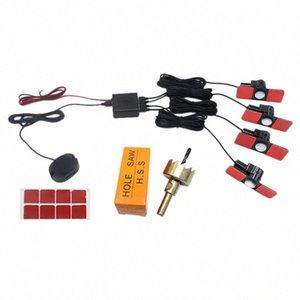Car Parking Sensors plana Sensores Radar inversa de copia de seguridad de sonido del zumbador de alarma (Negro + Plata) zlR8 #