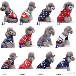 Dog Clothes Apparel For Halloween Christmas Reindeer Snowflake Pumpkin Skull Pet Costumes Clothing Knitted Outerwears Coat Sweater HH7-250