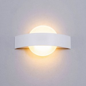 Nordic cabeceira Wall Light Lua Aisle Sconce Wall Mounted Lamp LED Indoor Hotel Verranda Stair Branco Lamp TdTq #