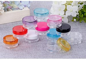 Plastic Wax Containers Boxes Jars Case 3g 5g Cosmetics Holder Wax Dabber Tools For Dry Wax Thick Oil Grease Paste Mastic No-Smell