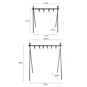 Aluminum Alloy Hanging Rack 8kg Bearing Weight Outdoor Camping Triangular Racks Clothes Storage Rack Hot Hiking And Camping Camping & V5V3#