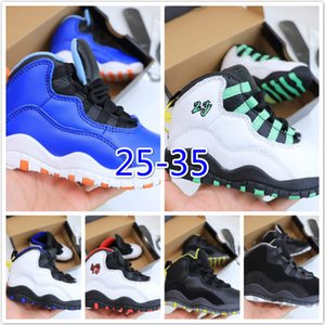 Bred XI jam AJ 10S Kids Basketball Shoes Gym Red Infan Children toddler Gamma Blue Concord 10 trainers boy girl sneakers