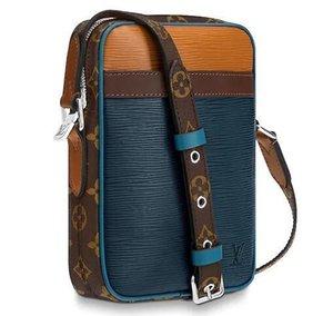 feixiang5255 OWJZ M51459 DANUBE SLIM CLASSIC MEN BLUE Real Chain Bag HANDBAGS SHOULDER MESSENGER BAGS TOTES