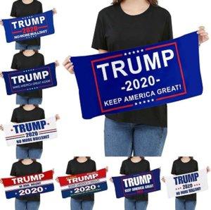 Microfibra Trump tovagliolo di fronte 35 * 75cm elezioni americane Quick Dry assorbente Sport Asciugamano rendere l'America Great Again Asciugamani DHE333