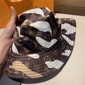 marca de moda de alta calidad cubo sombreros carta de color de la barra de doble cara clásico sombrero negro los viajes a White hombres y de mujeres del pescador