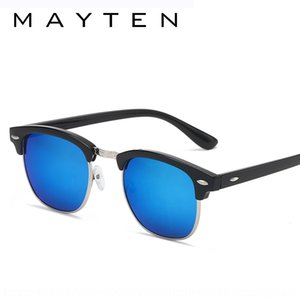 Classic rice nail sunglasses color film sun glasses 3016 fashion half frame metal reflective sunglasses