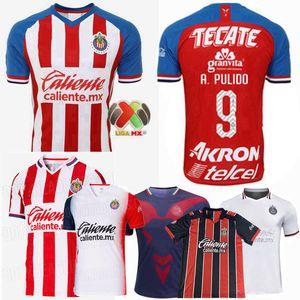 2019 2020 2021 Guadalajara Futbol Formalar Chivas Regal O.PERALTA I.BRIZUELA A.PULIDO A.VEGA ev uzakta 3 20 21 futbol erkek kadın gömlek
