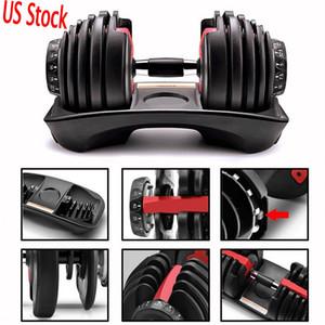 Halteres ajustáveis quentes 5-52.5lbs Workouts Fitness Dumbbells Peso Construir Tom Seus músculos Força Equipamento de esportes ao ar livre em estoque