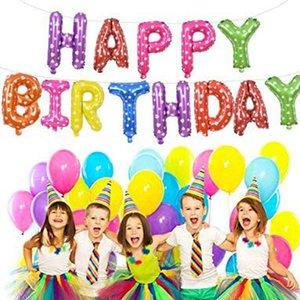 Doğum günü partisi Bebek Çocuk Duş süslemeler Renkli Folyo Balonlar Alfabe Air Balloons Mektubu Balonlar