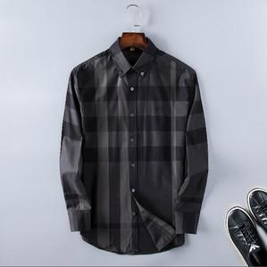 2020 Brand Men's Business Casual Shirt Mens Long Sleeve Striped Slim Fit Camisa Masculina Social Male Shirts New Fashion Shirt #4700