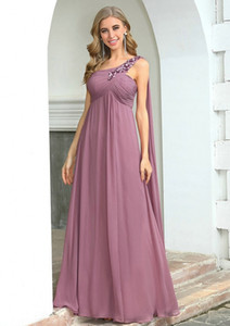 Plus Size Dusty Pink Chiffon Bridesmaid Dresses For Women For Weddings Ever Pretty Elegant A Line Appliques Wedding Party Dress