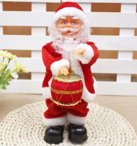 Bailar eléctrica juguetes de Papá Noel Navidad eléctrica Música de Santa Claus muñeca de Navidad para los niños Parte de Navidad de dibujos animados Accesorios GGA3561-1
