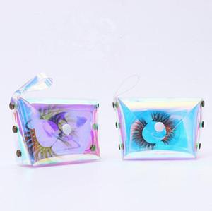 3D Ресницы Упаковка Коробки Лазерная Lash сумка Lashes Пакет для хранения Случаи макияж Косметические Дело норка Прозрачный Ресницы сумка GGA3555-2