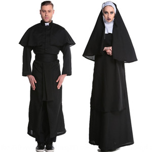 Bölünmüş boyut Cadılar Bayramı Virgin nv Fu Zhuang nv Fu Zhuang giyim kadın giyim Mary rahibe rahip kostüm topu kostüm