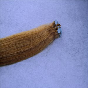 Tape In Remy Human Hair Extensions Malaysian Hair Straight Invisible Skin Weft PU Tape 40Pcs 100g Hair Extensions