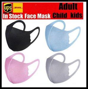 Anti-poussière Visage Bouche PM2,5 Couverture Masque Respiratoire antipoussière Anti-bactérien lavable réutilisable Ice Silk Cotton Outils Masques En stock